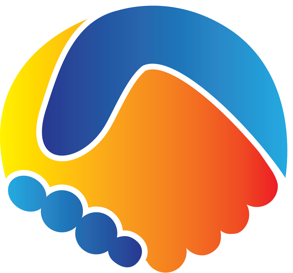logo-handshake in circle